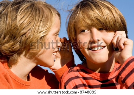 brothers and their secrets - stock photo