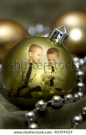brothers in a bauble - stock photo