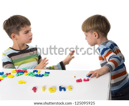 brothers in conflict - stock photo