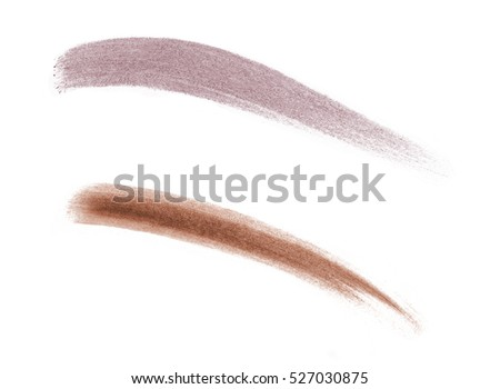 Brow powder brush strokes swatches