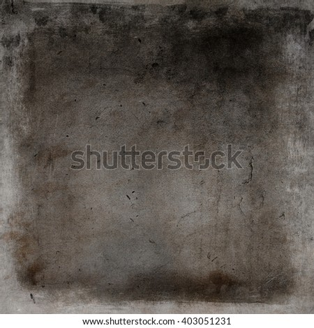 Brown aged concrete wall background, dark in the center