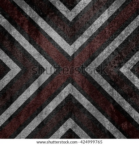 Brown and black  abstract old background texture with X pattern. - stock photo