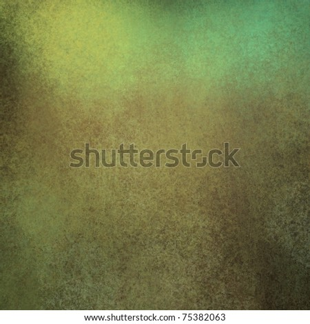 brown and green background with dirty grunge texture - stock photo