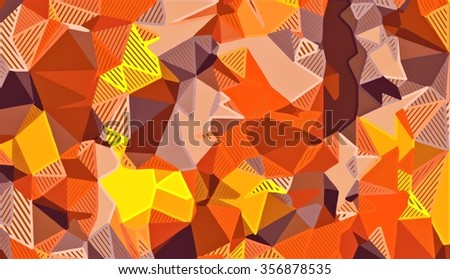 brown and yellow drawing and painting abstract background