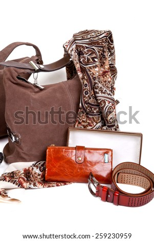 Brown autumn women's accessories