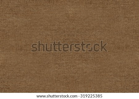 brown background, linen paper woven fabric canvas texture background - stock photo