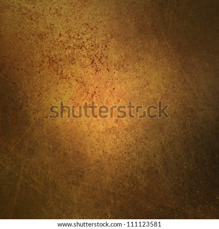 brown background or gold background abstract vintage grunge background texture  distressed for worn old faded background paper or parchment, use for retro brochure ad or wall or antique web template - stock photo