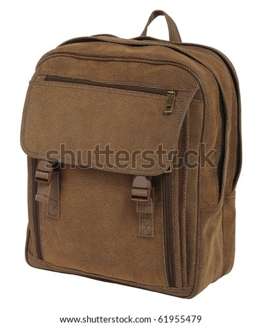 brown bag - stock photo