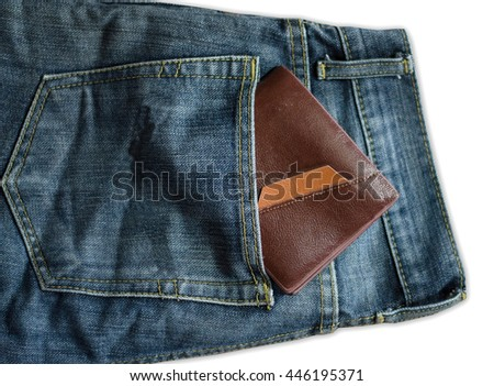 Brown Bag Putting on jeans