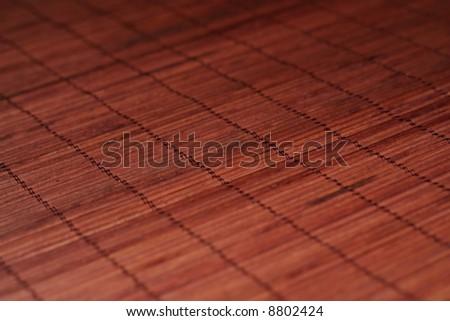 brown bamboo matt - stock photo
