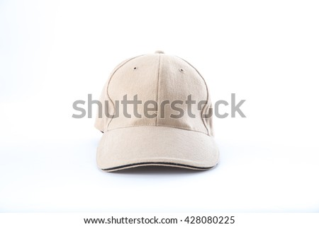 brown baseball cap on white background