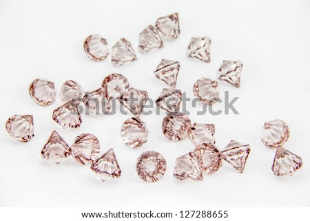 Brown beads is look like diamond isolated on white background - stock photo