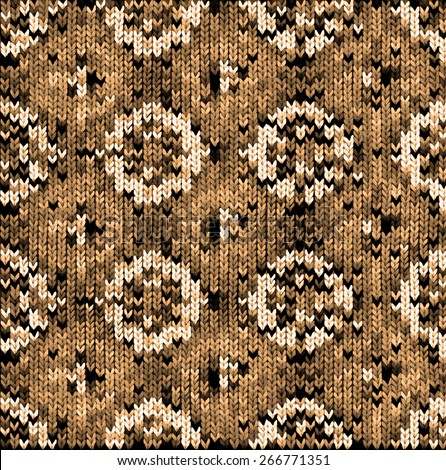 brown beautiful knitted geometric pattern for your design