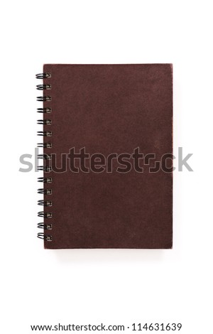 brown book on a white background - stock photo