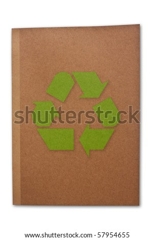 Brown book on white background