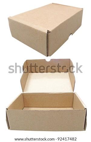 brown box shipping - stock photo