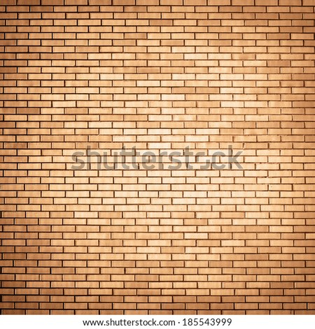 brown brick wall background - stock photo