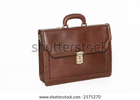 brown business bag