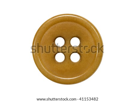 Brown button isolated on white