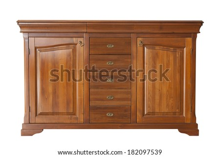 Brown cabinet isolated on white