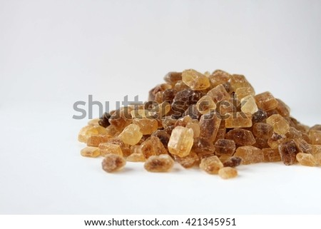 Brown candy sugar, large crystals