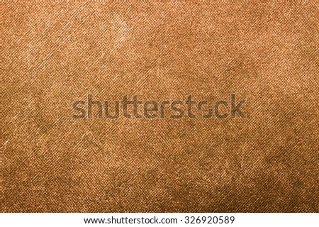 Brown canvas texture background.