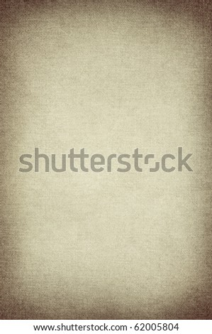 brown canvas texture on vintage paper - stock photo