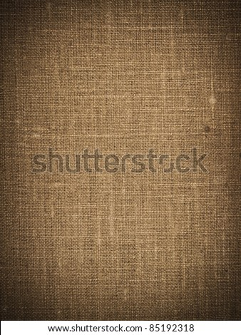 Brown canvas texture or background - stock photo