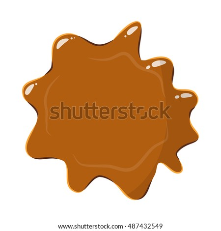 Brown caramel icon isolated on white background. Sweetness symbol