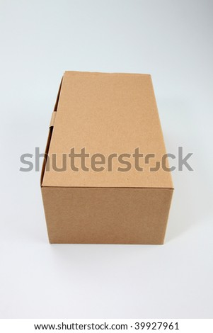brown cardboard box on the plain background