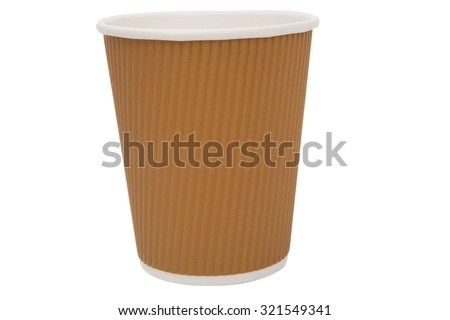Brown cardboard cups for hot drinks