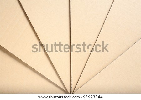 Brown Cardboard in angle - stock photo