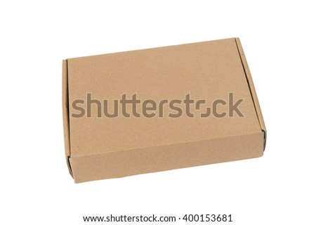 brown carton box, isolated on white backgroun