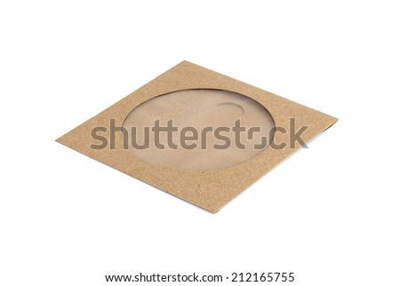 Brown CD envelope made by recycled paper - stock photo