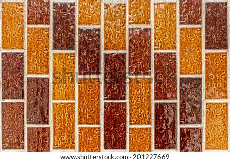 brown ceramic tiles background - stock photo