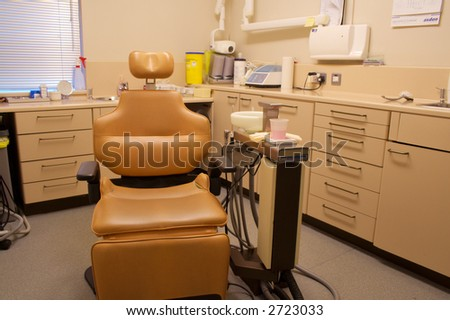 Brown Chair in Dental Surgery