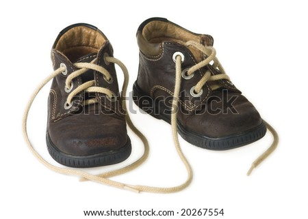 brown child shoes