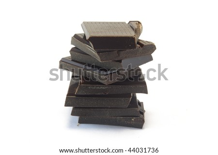 brown chocolate - stock photo