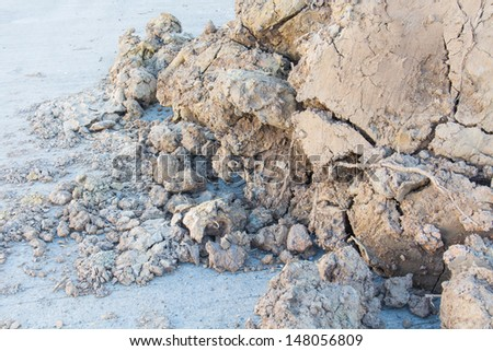 Brown clay Pile - stock photo