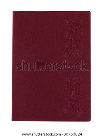 Brown closed notebook book isolated over white background for design work