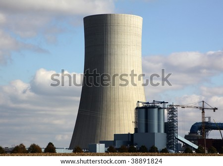 Brown coal dismantling, power stations - stock photo
