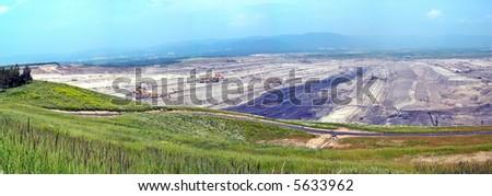 Brown coal mine in the northen Czech republic - stock photo