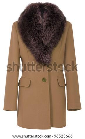 brown coat - stock photo