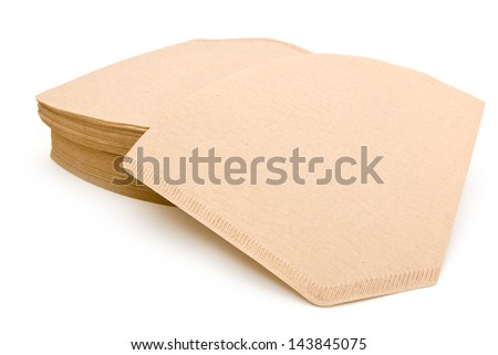 Brown coffe filters - stock photo