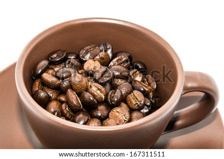 Brown Coffee And Cup