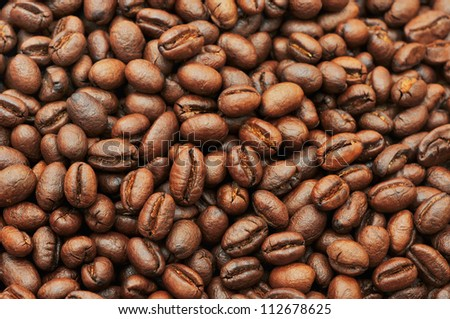 brown coffee, background texture, close-up - stock photo