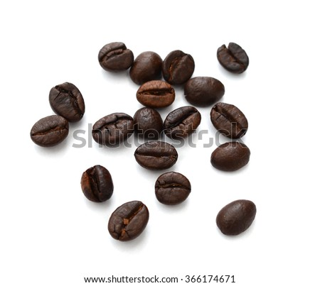 Brown Coffee Bean on white background