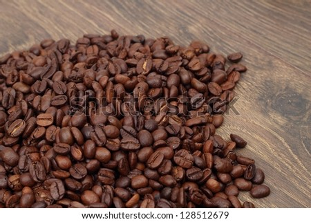 Brown coffee beans for  texture