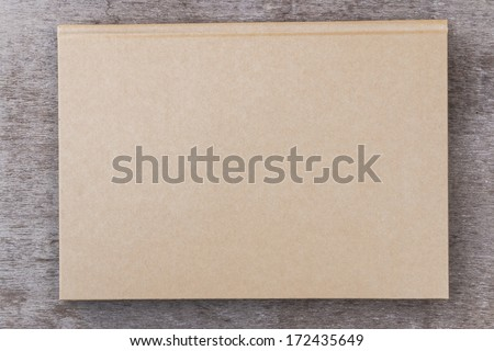 Brown color note book - stock photo