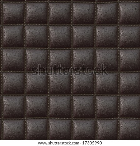 brown color square leather like texture that can be seamlessly tiled - stock photo